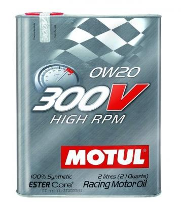 MOTUL Synthetic Ester Racing Oils 300V HIGH RPM 0W20 - 2L (2.1qt)