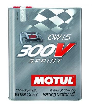 MOTUL Synthetic Ester Racing Oils 300V SPRINT 0W15 - 2L (2.1qt)