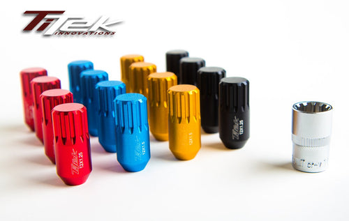 Titek Race Lock Nuts (short) with Key (M12x1.25)