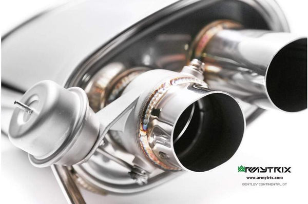 Armytrix Valvetronic Exhaust: Bentley Continental GT / GT Speed
