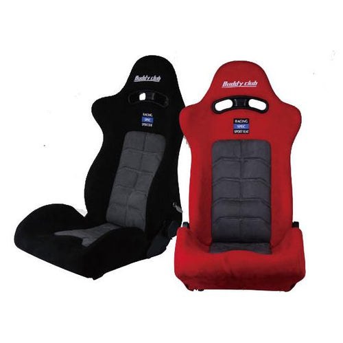 Buddy Club Racing Spec Sport Seat w/ Adaptor Plate