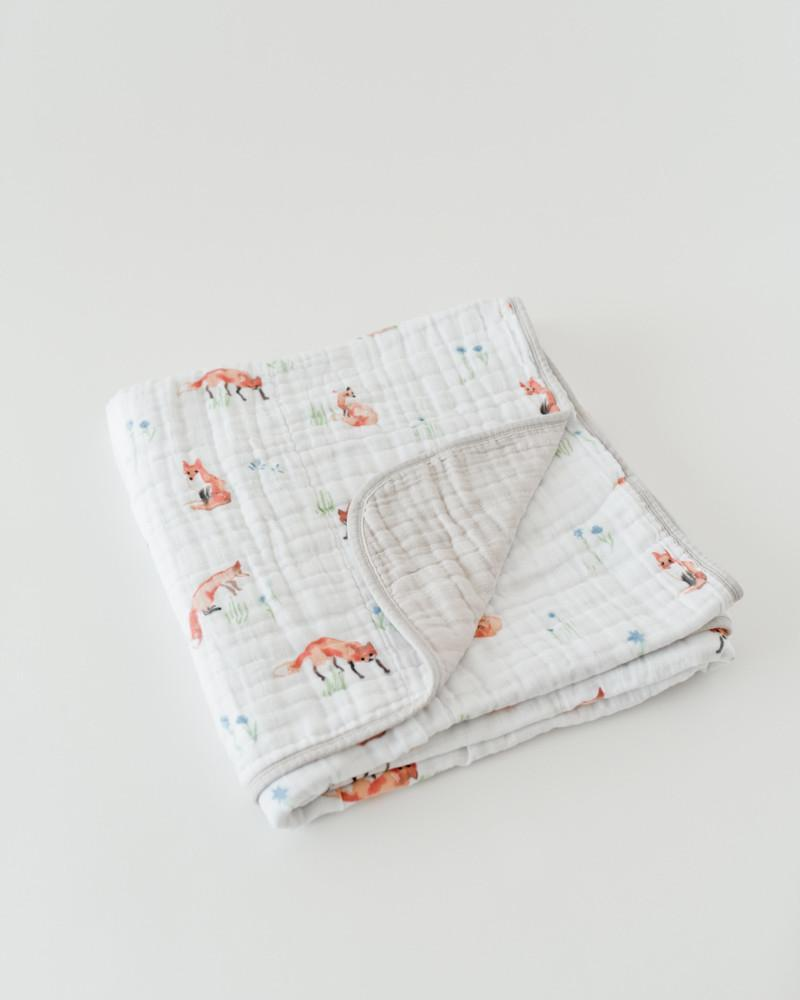 little unicorn fox quilt