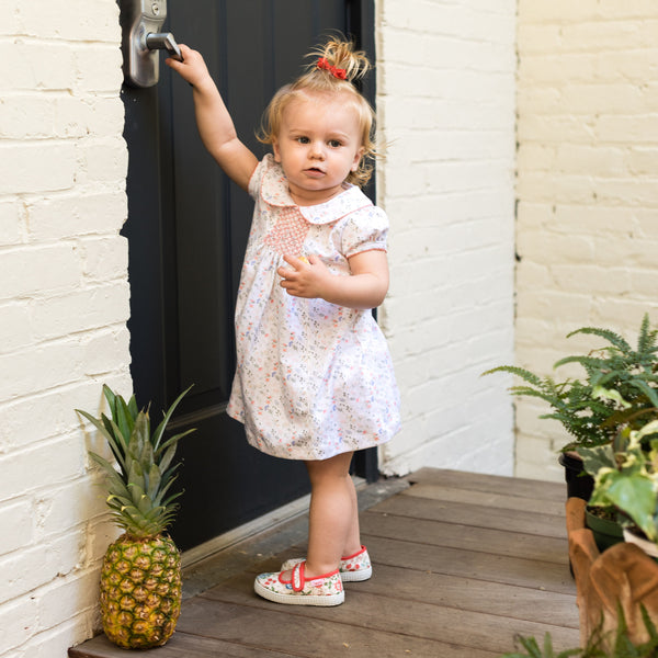 Madison Floral Dress with Ruffle Bloomers - Pineapple Sunshine™