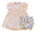 Clementine Peach Floral Smocked Dress w/Bloomer 1