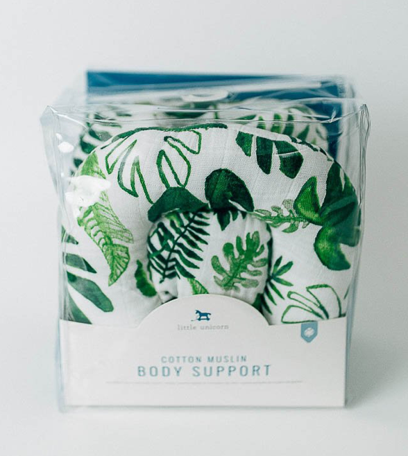 Cotton Muslin Body Support - Tropical Leaf - Pineapple Sunshine™