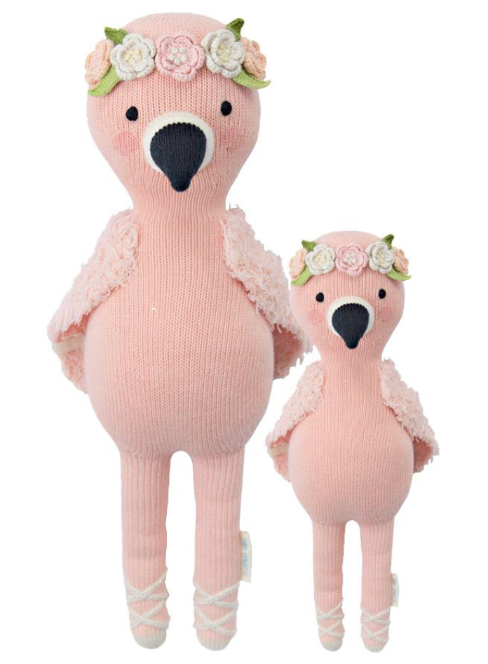 Cuddle and Kind Penelope the flamingo knit doll