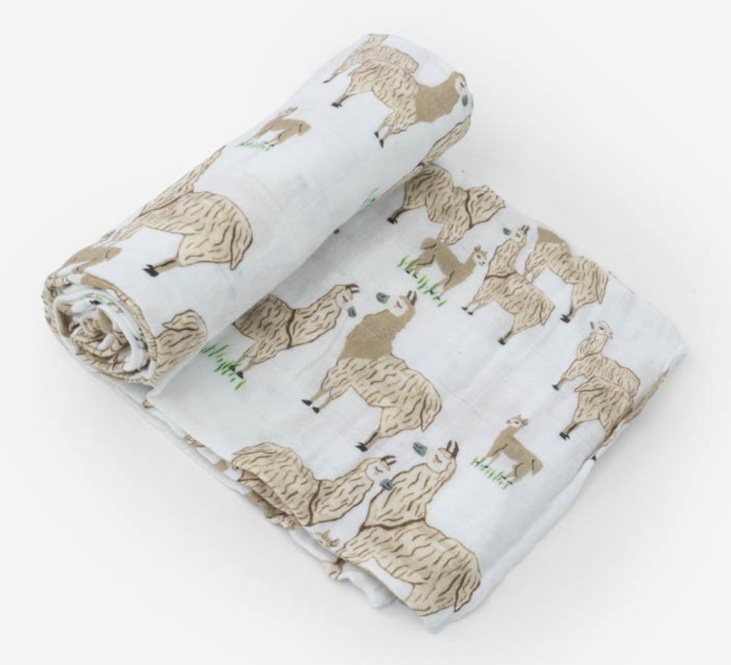 Cotton Muslin Swaddle Single - Llama Llama