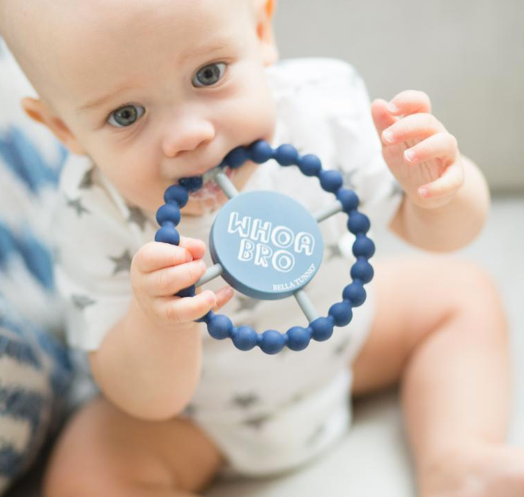 'Whoa Bro' Teething Ring - Pineapple Sunshine™