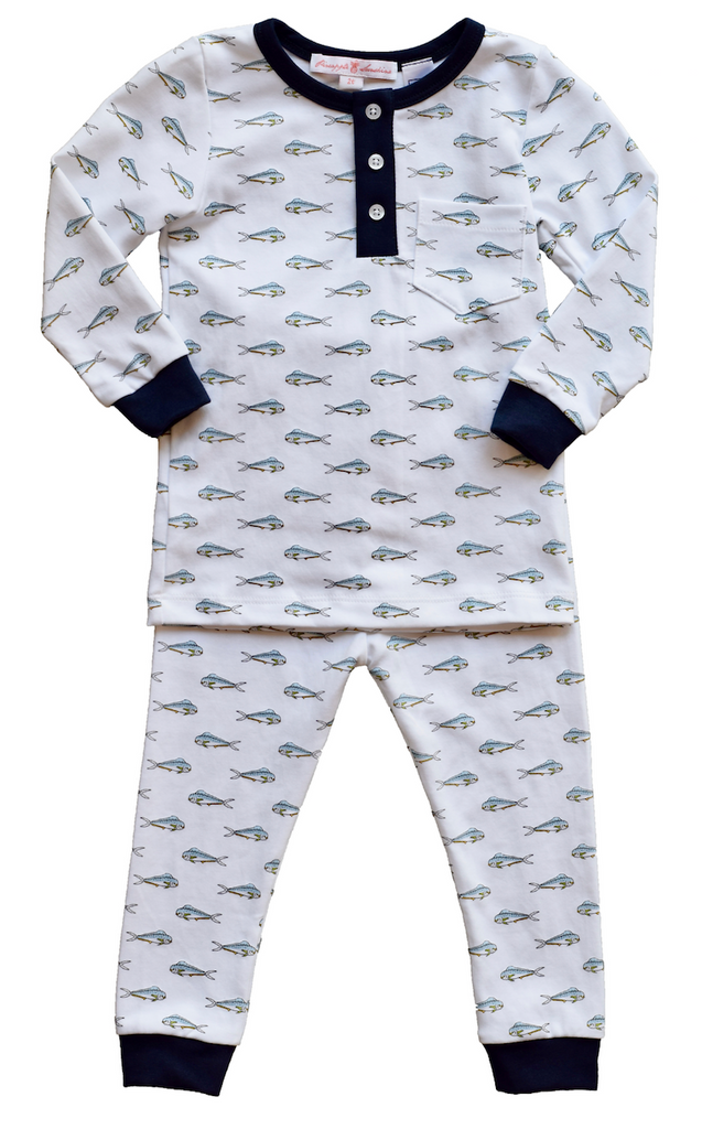 Pineapple Sunshine Mahi Mahi 2 piece boys pajama set