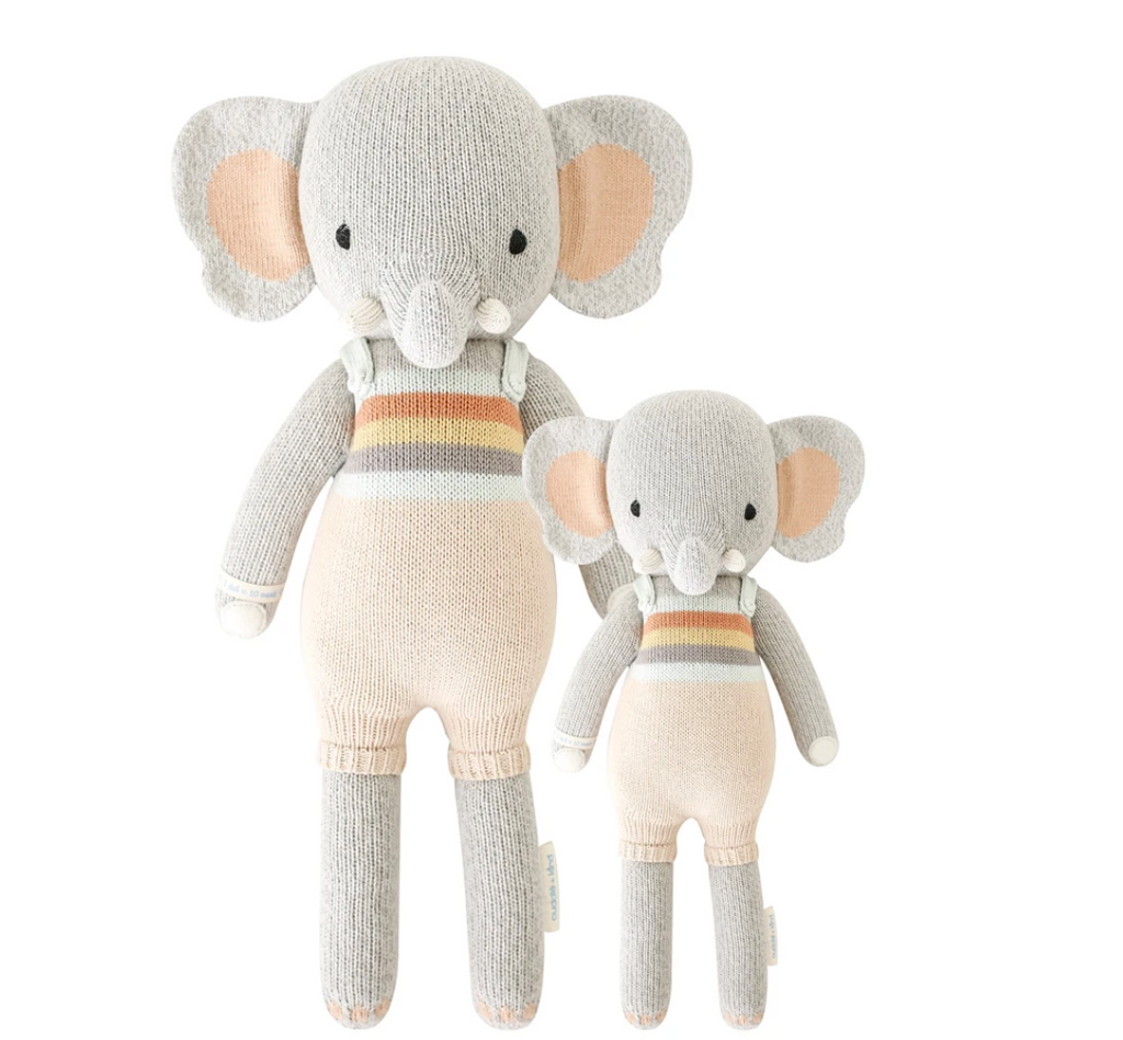 Cuddle and Kind Evan the Elephant hand knit doll