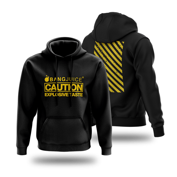 BangJuice® Yellow Caution Stripes Hoodie
