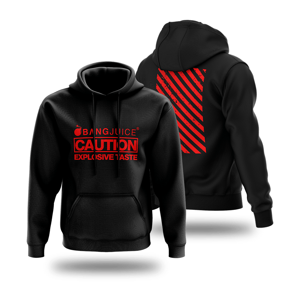BangJuice® Red Caution Stripes Hoodie