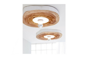 Sliced Wood Hanging Lamp - casa-suarez-panama