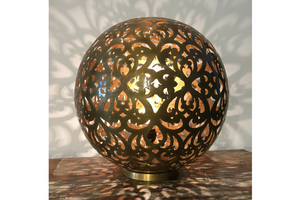 Oriental Golden globe Table Lamp - casa-suarez-panama