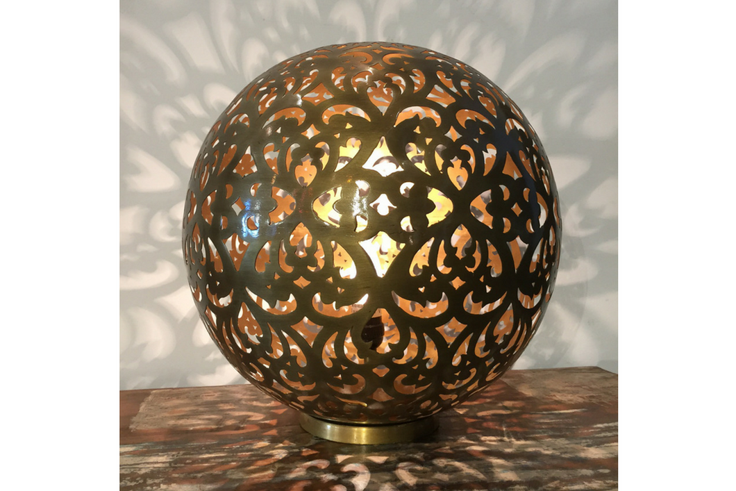 Oriental Golden globe Table Lamp small - casa-suarez-panama