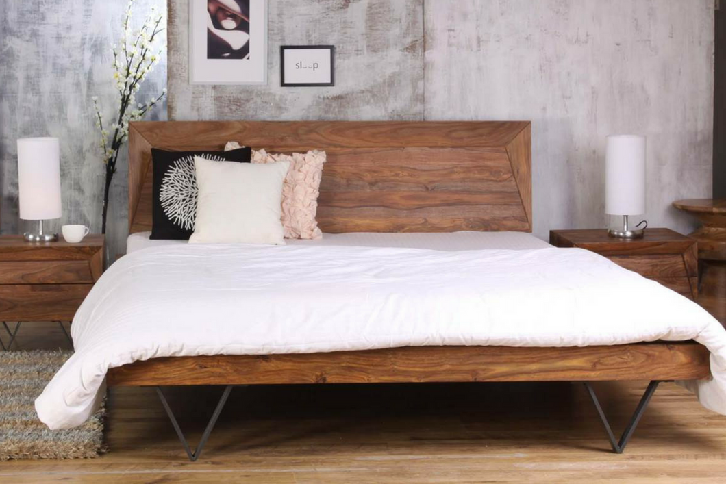 Metric King Bed Rosewood - casa-suarez-panama