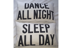 Dance/Sleep 2 sided Cushion - casa-suarez-panama