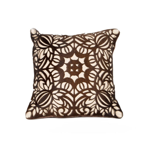 Boho Flora Leather Cushion - casa-suarez-panama