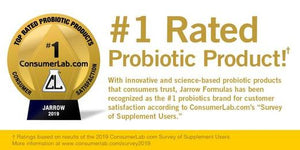 Jarrow Formulas® Chosen as #1 Probiotics Brand for Customer Satisfaction