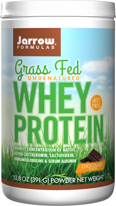Grass Fed Whey Protein Chocolate      	           - 13.8 oz (391 g) Powder