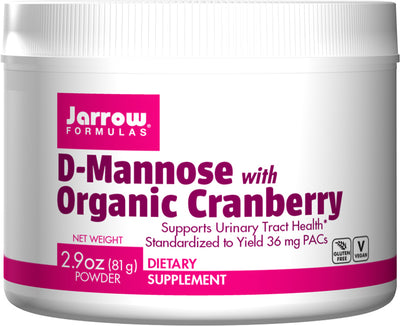 D-Mannose with Organic Cranberry      	           - 2.9 oz (81 g) Powder