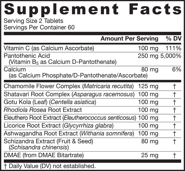 Adrenal Optimizer® Supplement Facts