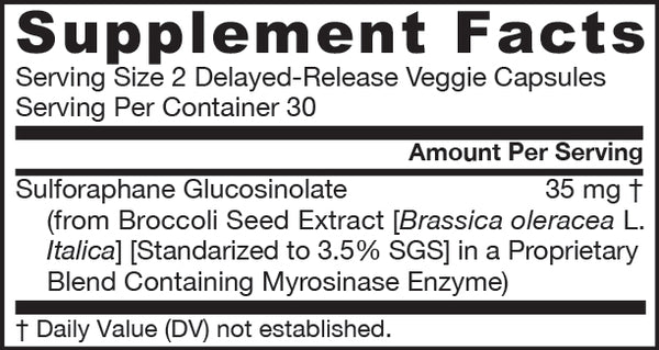 BroccoMax® Supplement Facts