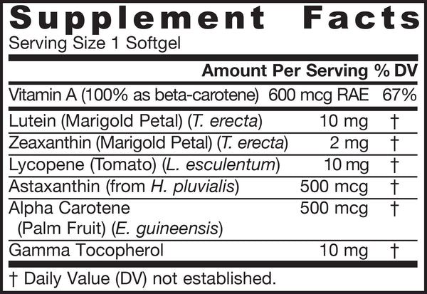 CarotenAll® Supplement Facts