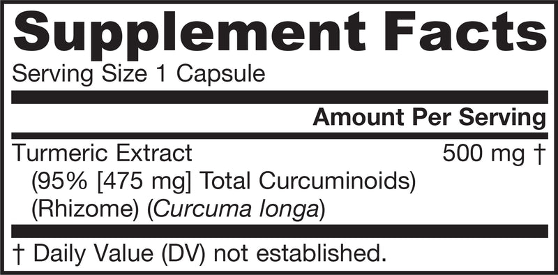 Curcumin 95 Supplement Facts
