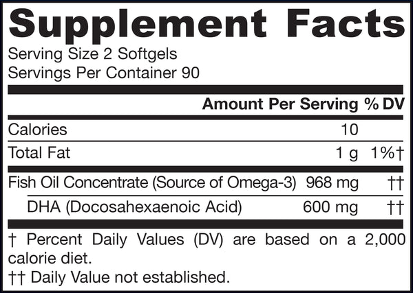 Max DHA® Supplement Facts