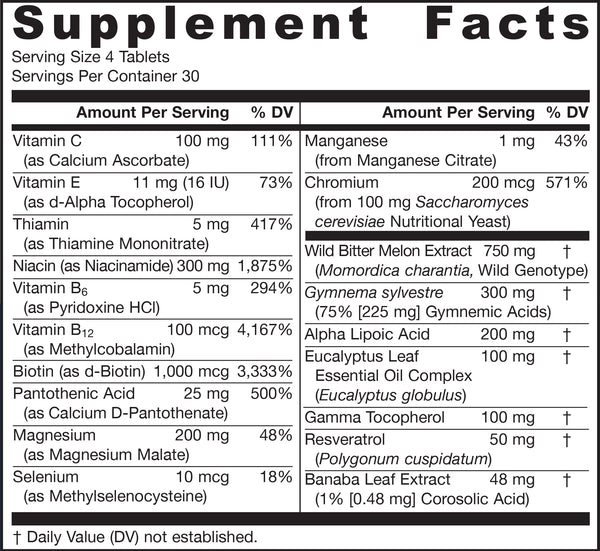 Glucose Optimizer® Supplement Facts