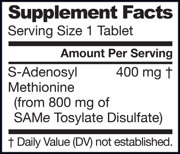 SAMe Supplement Facts