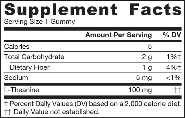 Theanine Gummies Apple Supplement Facts