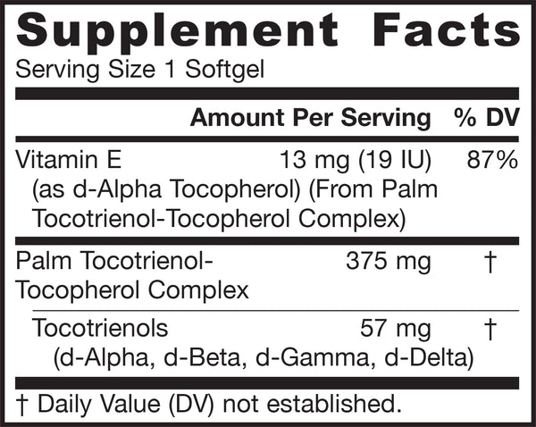 Toco-Sorb® Supplement Facts