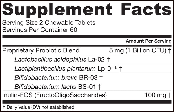 Yum-Yum Dophilus® Natural RaspberrySupplement Facts