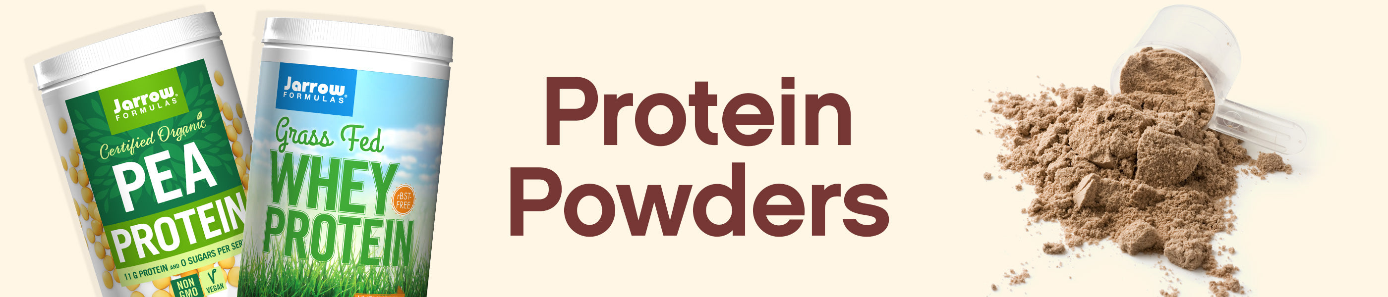 Protein Powders (Whey & Plant) header image