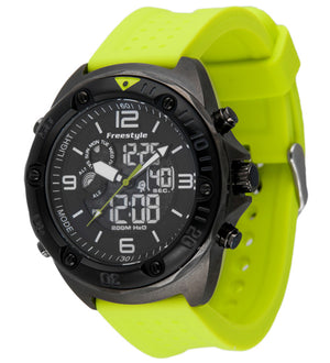 Freestyle Watches Precision 2.0 Gunmetal/Lt Green Unisex Watch 10022923