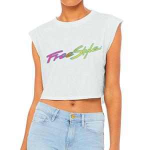 Women's Freestyle Flirt Cropped Top Ice Blue