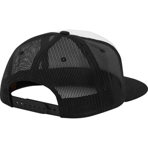 Blue Wave Trucker Hat White / Black
