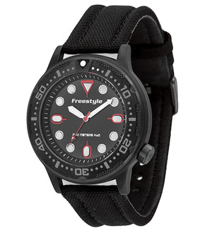 Freestyle Watches Ballistic Diver Black/Red Unisex Watch 10024401