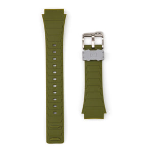 Shark Classic - Strap Kit - Silicone - DARK GREEN/LIGHT GREY
