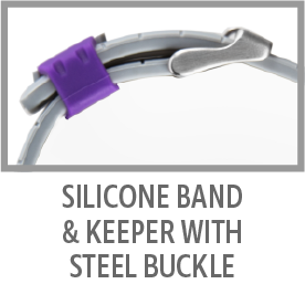 Silicone Band & Keeper With Steel Buckle