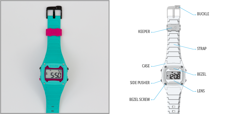 Freestyle Watch Diagram - Front