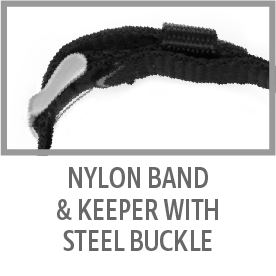 Nylon Band and Keeper with Steel Buckle