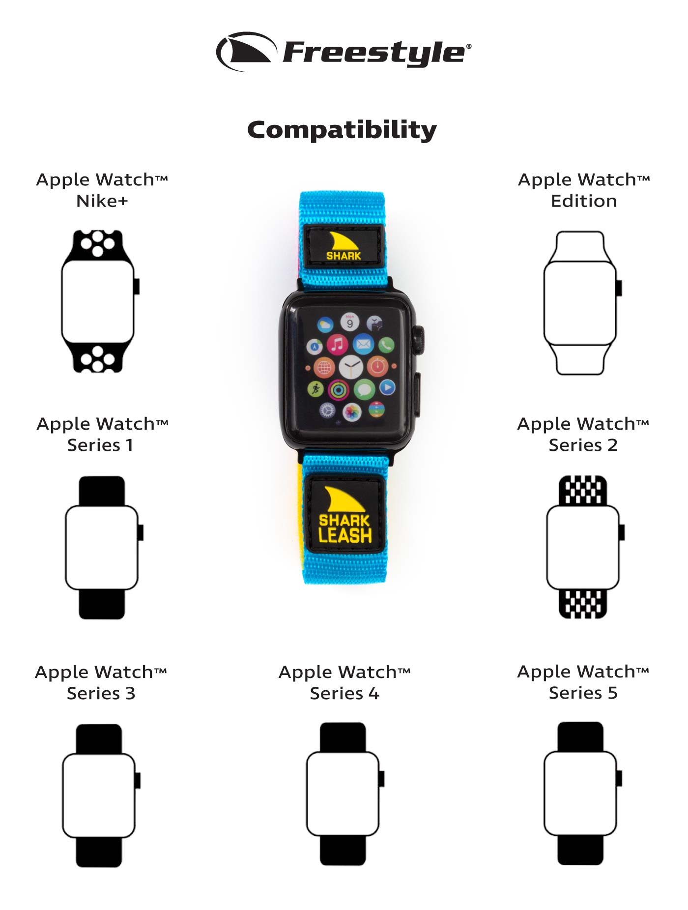 Freestyle Apple Strap Compatibility Chart