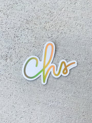CHS Holographic Sticker