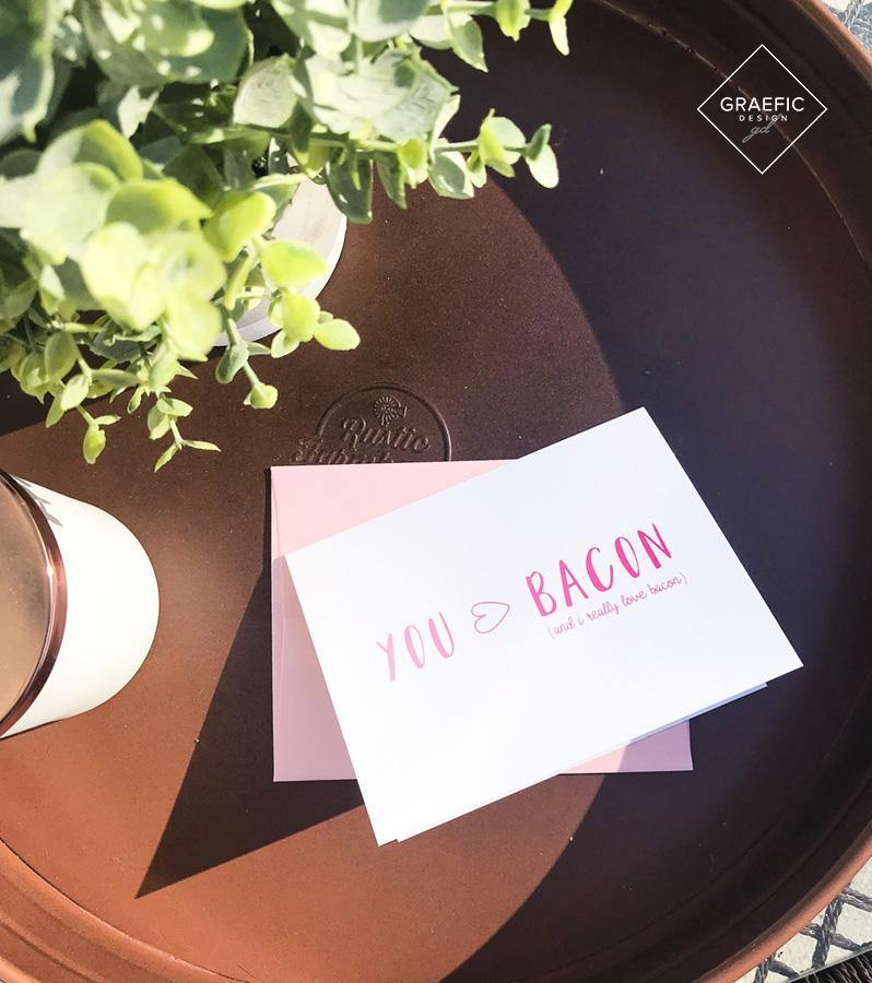 You > Bacon Card - Graefic Design