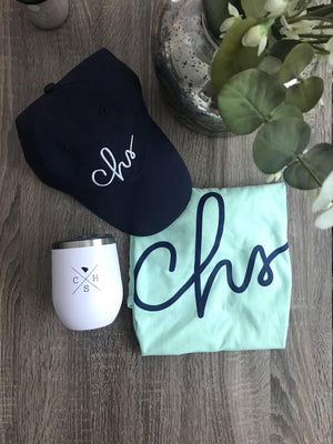 Handwritten CHS V-neck Tee