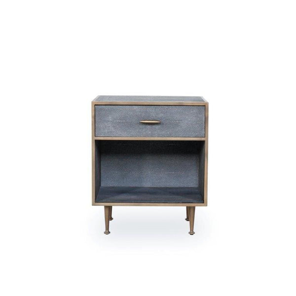 Charlotte Shagreen Bedside Table