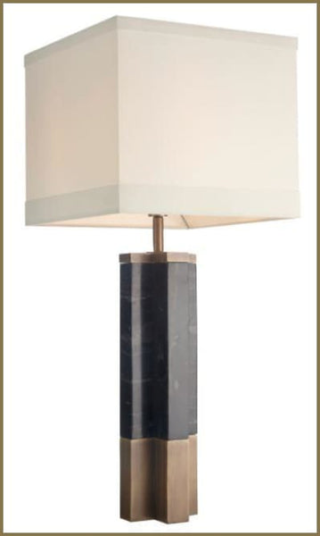 Cole Marble Table Lamp - Table Lamp